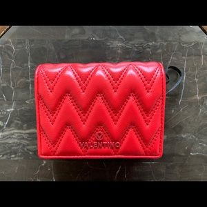 Valentino By Mario Valentino Quilted Red Wallet